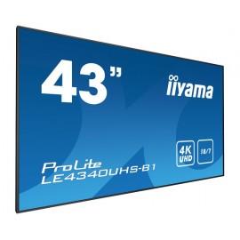 iiyama LE4340UHS-B1 pantalla de señalización 108 cm (42.5'') LED 4K Ultra HD Negro