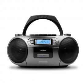 Aiwa BBTC-550MG Reproductor de CD portátil Negro, Plata