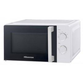 Hisense H20MOWS1H microondas Encimera Solo microondas 20 L 700 W Negro, Blanco