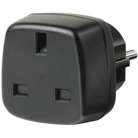 Brennenstuhl Travel Adapter GB/earthed adaptador e inversor de corriente Negro - 1508530