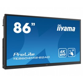 iiyama TE8604MIS-B2AG pizarra y accesorios interactivos 2,18 m (86'') 3840 x 2160 Pixeles Pantalla táctil Negro HDMI