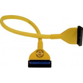 Revoltec RC017. Cable Floppy redondo, 48 cm, amarillo