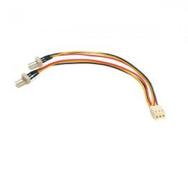 StarTech.com Cable 15cm Splitter Divisor de Alimentación Corriente para Fan Ventilador de CPU - TX3 TX3SPLITTER