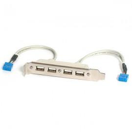 StarTech.com Cabezal Bracket de 4 puertos USB 2.0 con Conexi USBPLATE4
